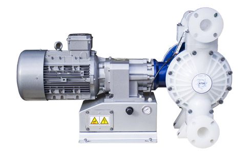This electronically operated double diaphragm pump is