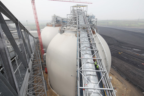 Drax biomass storage domes