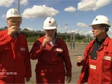 German ExxonMobil employees drink fracking fluid