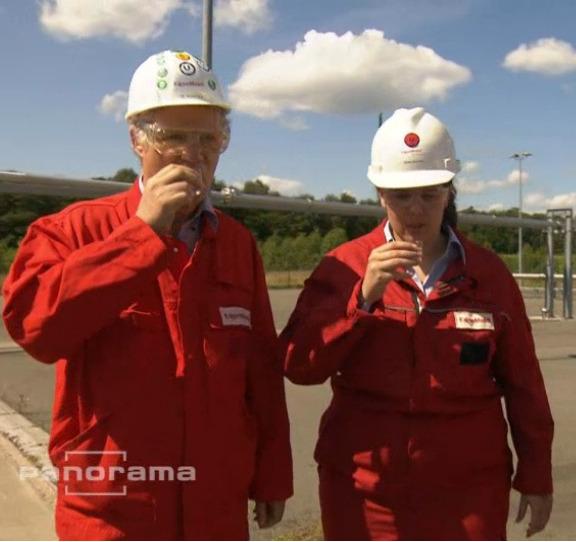 ExxonMobil staff drink fracking fluid   Process Engineering
