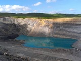 Glenmuckloch open cast coal mine