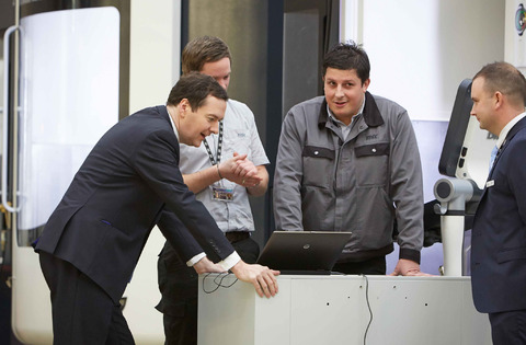 George Osborne at the Manufacturing Technology Centre